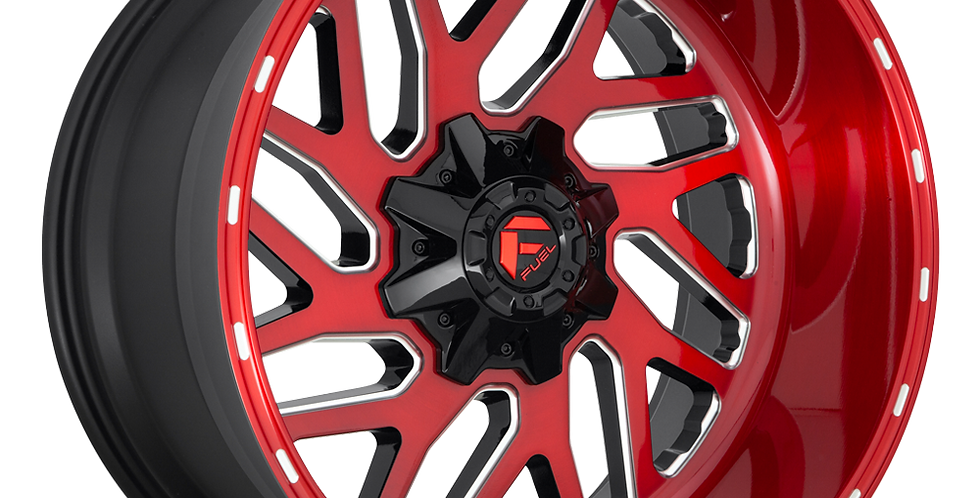 Triton D691 - Brushed Candy Red / Gloss Black / Milled