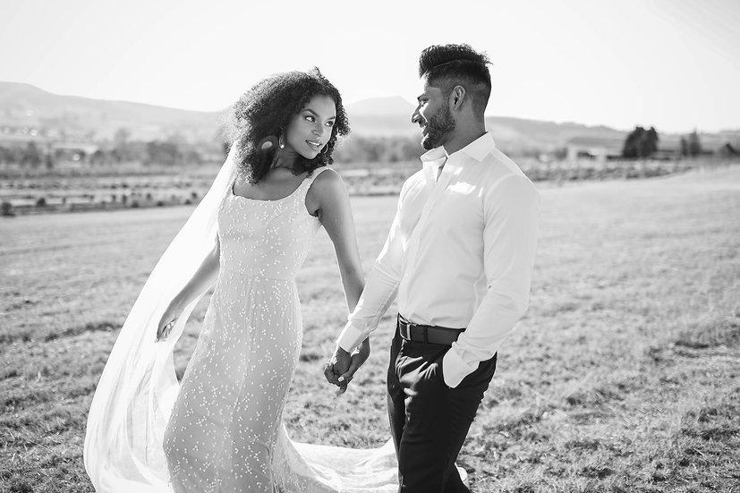 The Amara Dress - Square-Neckline Wedding Dress
