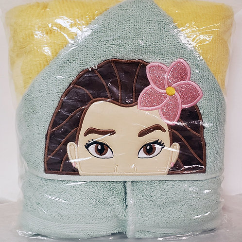 Polynesian Princess Hooded Bath Towel
