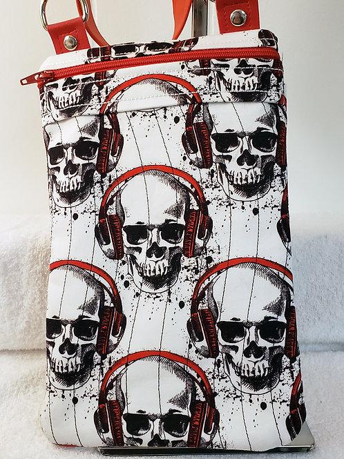 Skull Headphones Crossbody Bag