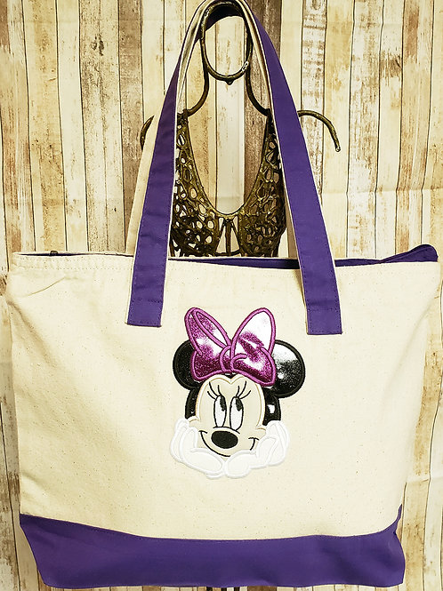 Mrs. Mouse Embriodered Tote Bag