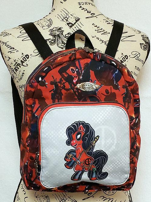Cosplay Deady-pool Mini Backpack