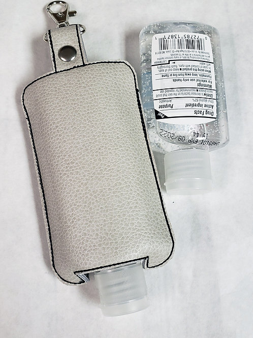 Faux Leather Hand Sanitizer Holder