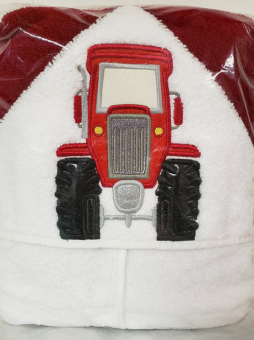 Tractor Hooded Bath Towel