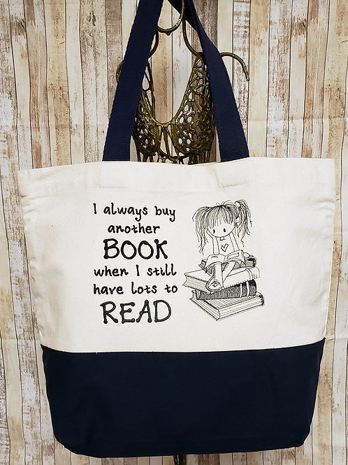 Books to Read Embroidered Tote