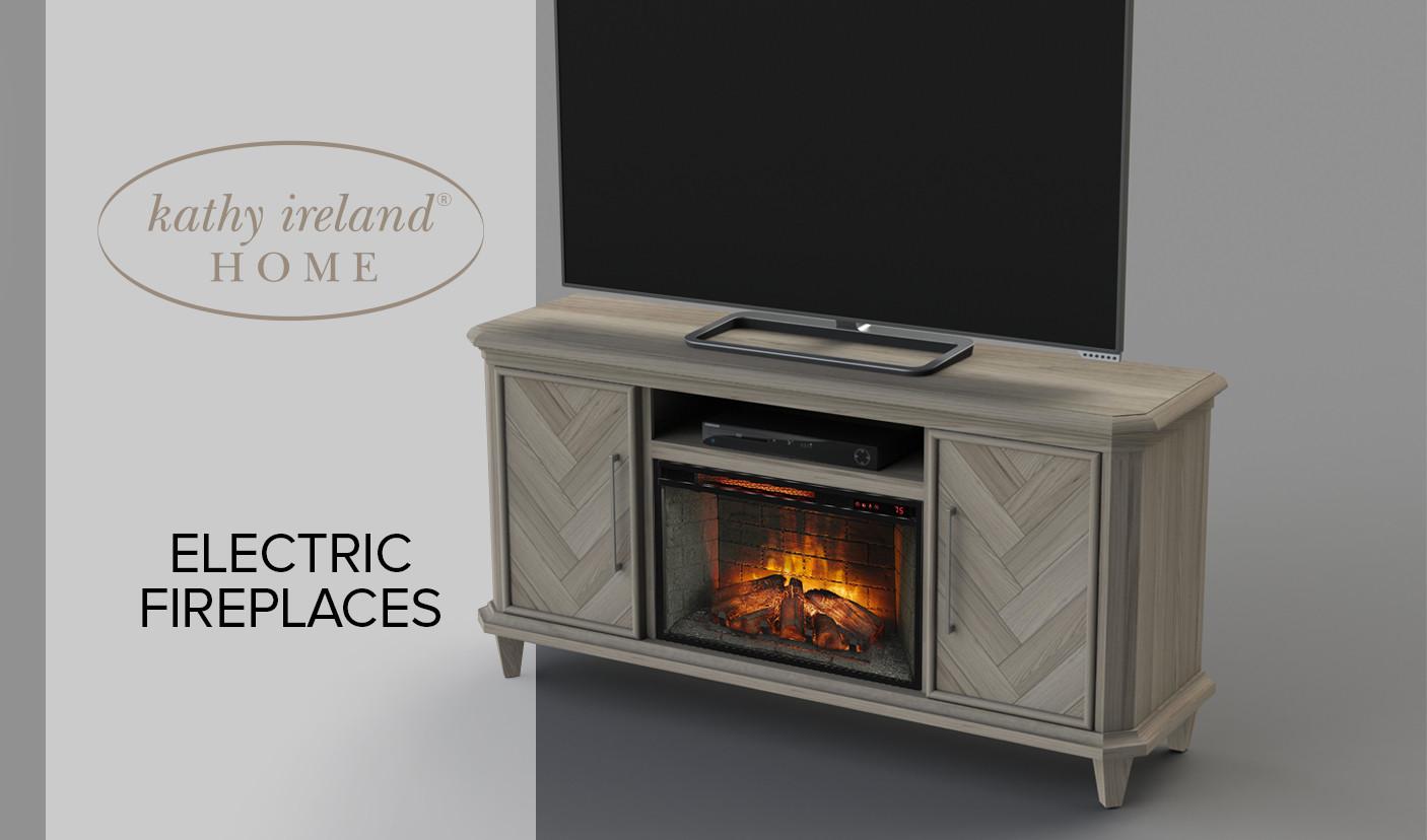 kathy ireland fireplace