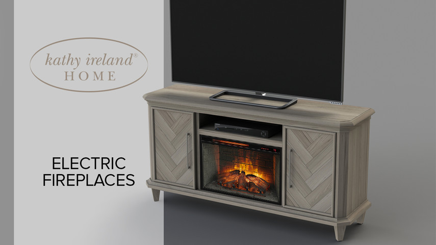 kathy ireland fireplace