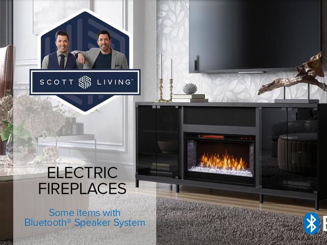Scott Living Electric Fireplace