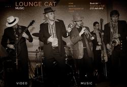 Lounge Cat Music website by Sandrasonik