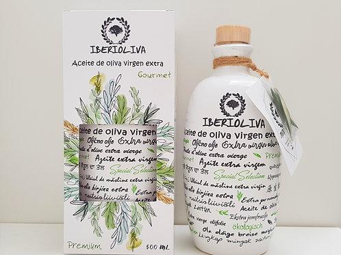 Botella porcelánica 500ml Aceite de Oliva Virgen Extra Ecológico