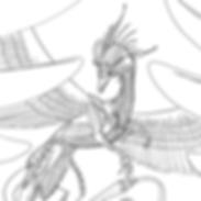 Ziegler dragon lineart