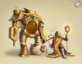 CM - Dwarf Mage and Golem
