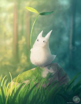 Chibi Totoro speedpaint