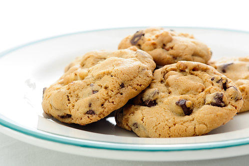 Jumbo Chocolate Chip Cookies - Tray of 12