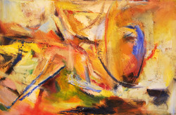 Beyond the Clouds, 2008, oil on canvas,90x135