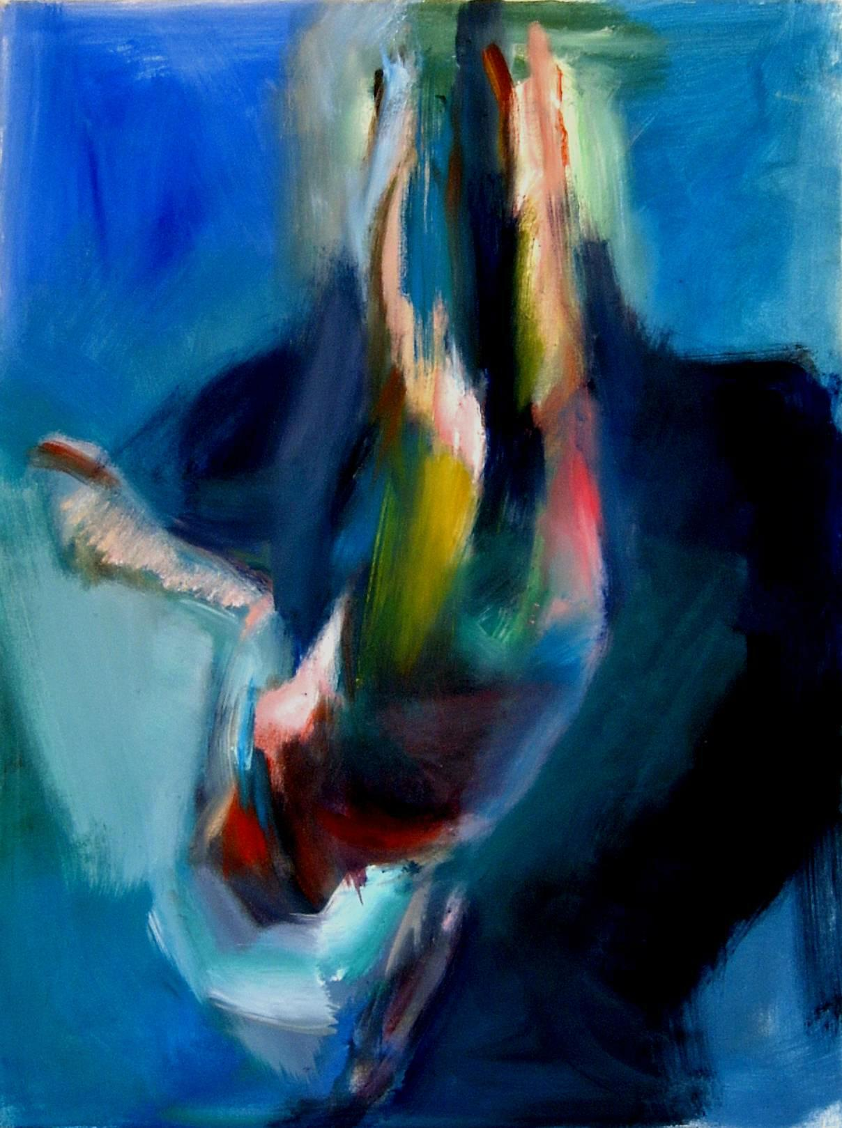 B.Böhlke, At the Pools, 2009, Oil on Canvas, 100x75cm