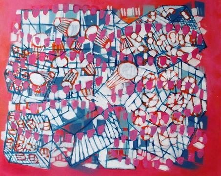 Pink Beads 2015, 40 x 50cm, Acrylic on Canvas.jpg