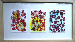'things joined to other things' 2013, Acrylic on paper, each piece  7cm x 10cm. Exhibited in Nairobi
