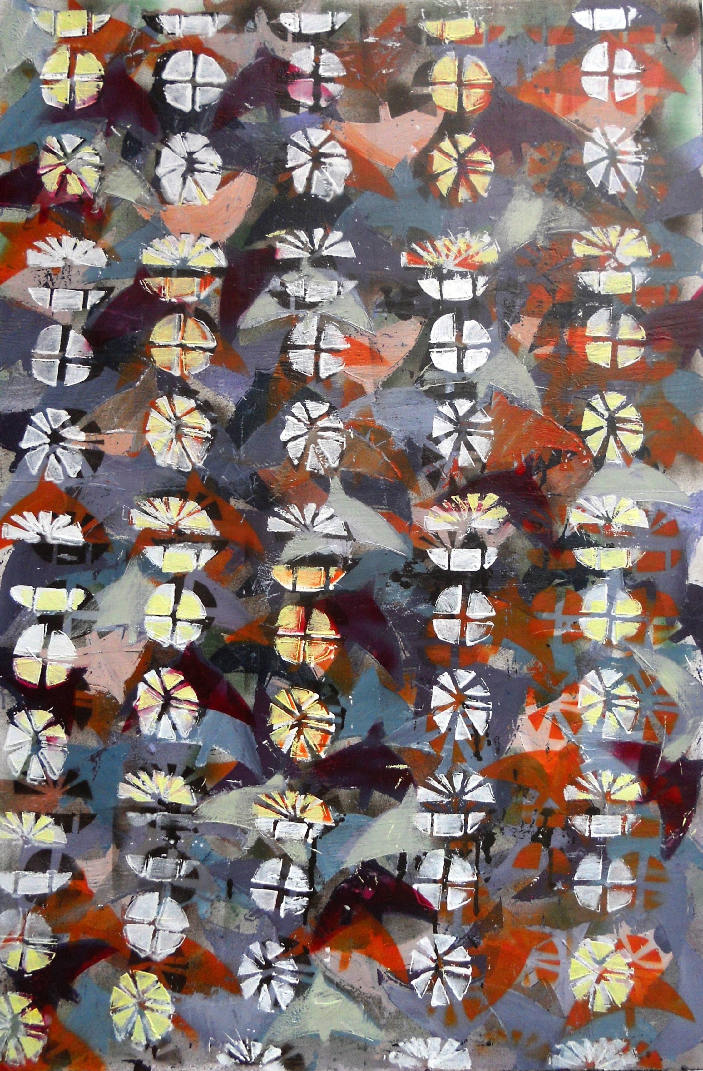 Peter's Garden 2013, Acrylic on board 100cm x 60cm. Exhibited in Nairobi, 2013.jpg