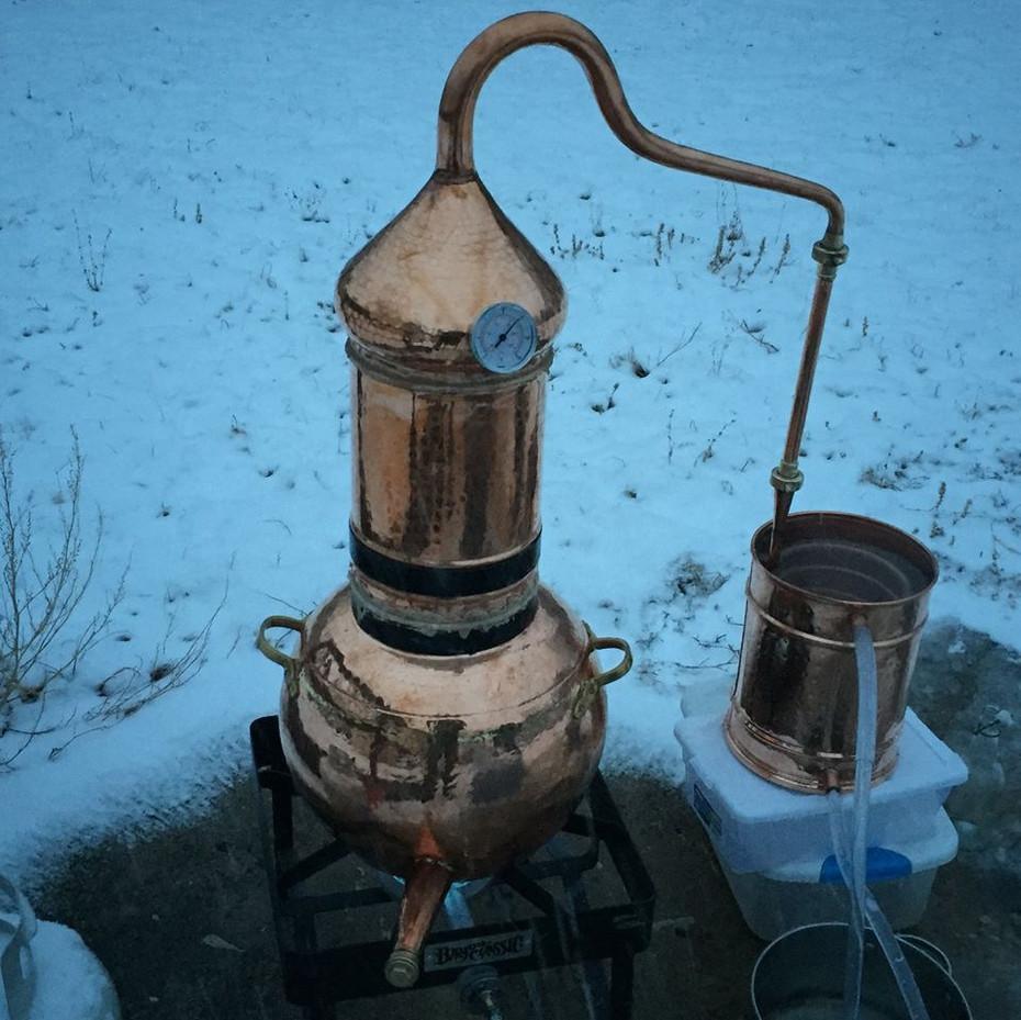 copper alembic first distillation