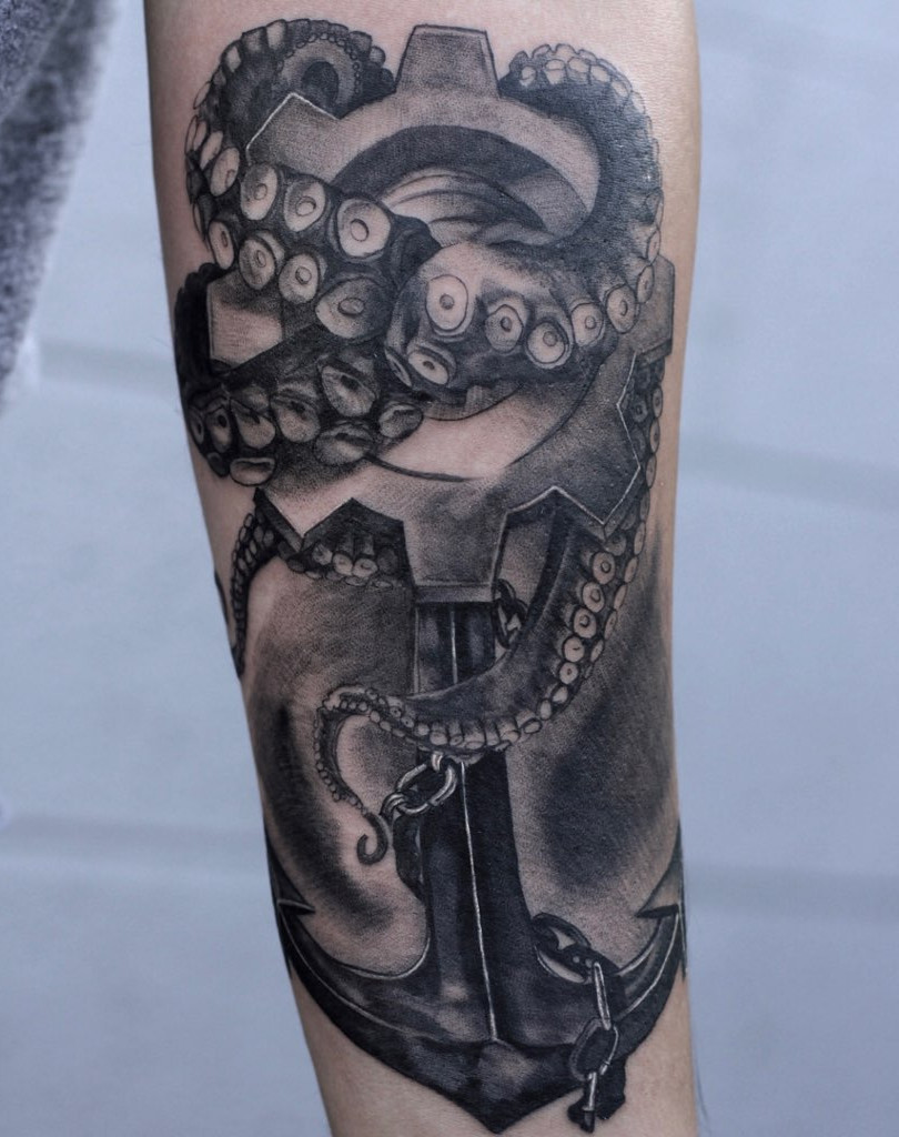 anchor tattoo by andrew