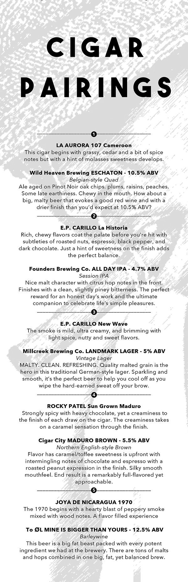 Cigar and Craft Beer Pairings