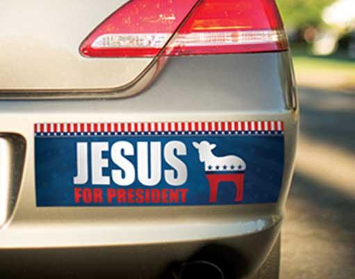 Jesus for President Bumper Sticker