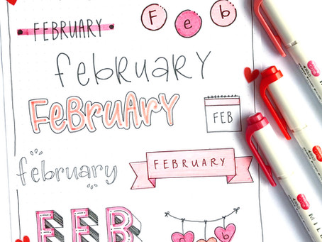 10 FEBRUARY HEADERS - BUJO IDEAS