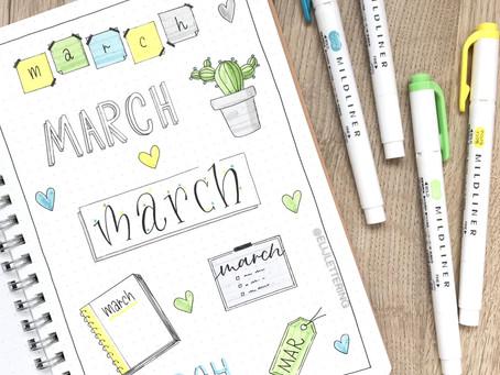 7 MARCH HEADERS - BUJO IDEAS
