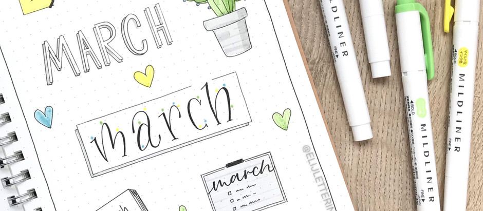 7 MARCH HEADERS - BUJO IDEAS