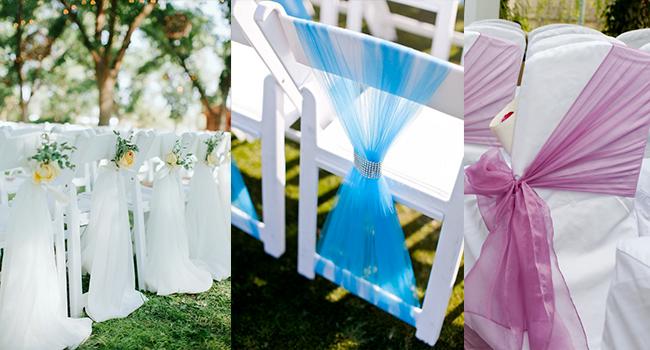 Wedding Chair Sashes