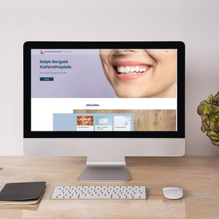 Kieferorthopädie Bergold - Website Design