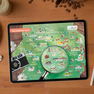 Bad Driburg Touristik - Touristische Karte