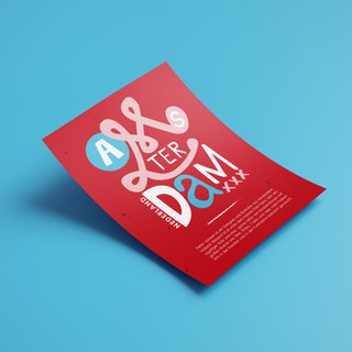 Amsterdam Piet Parra inspired Typography
