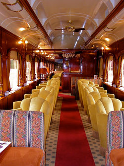 Club Car Seating and Draperies