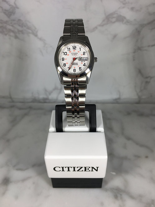 Ladies Silver Citizen Quartz Bracelet Watch