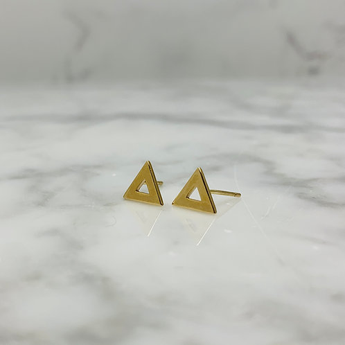 14KY Triangle Earrings