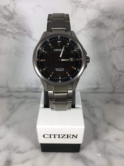 Men's Titanium Citizen Eco-Drive Bracelet Watch