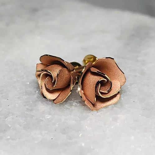 14KR Rose Earrings