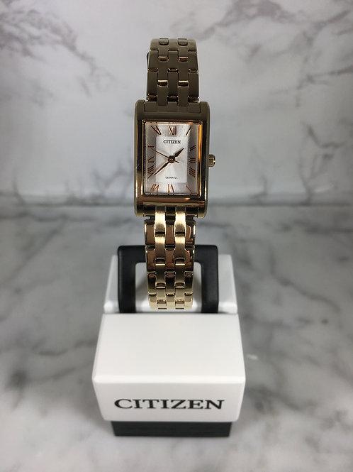 Ladies Rose Gold Citizen Quartz Bracelet Watch