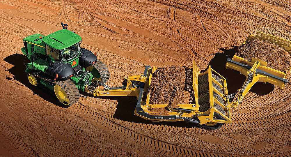 John Deere 9570RT two-track prime mover scraper