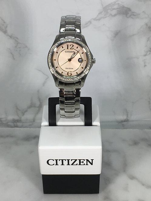 Ladies Silver Citizen Eco-Drive Bracelet Watch