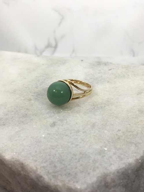 14KY Adventurine Ring