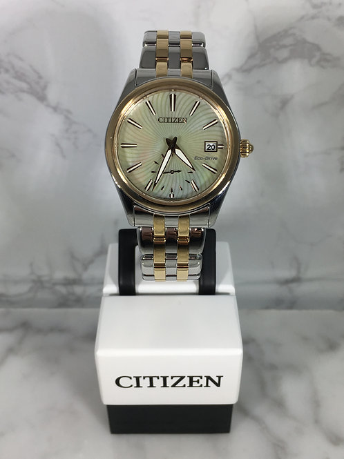Ladies Silver and Gold Citizen Eco-Drive Bracelet Watch