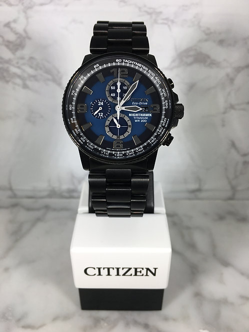Men's Black Citizen Eco-Drive Bracelet Watch