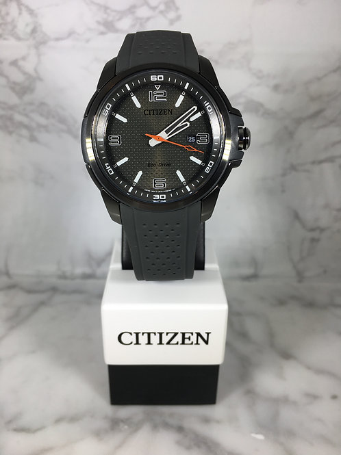 Men's Gray Citizen Eco-Drive Silicone Strap Watch