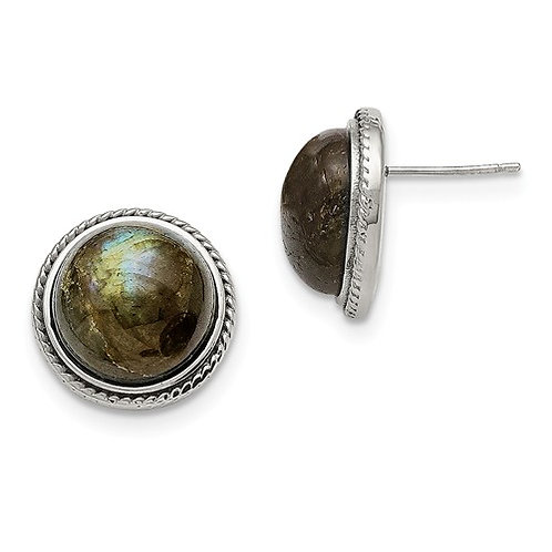 Stainless Steal LABRADORite Earrings
