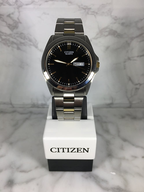 Men's Silver and Gold Citizen Quartz Bracelet Watch