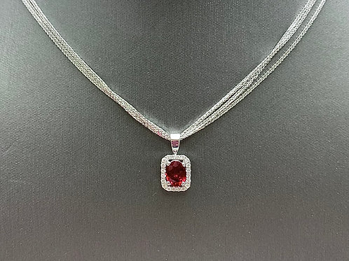 14KW Ruby and Diamond Necklace