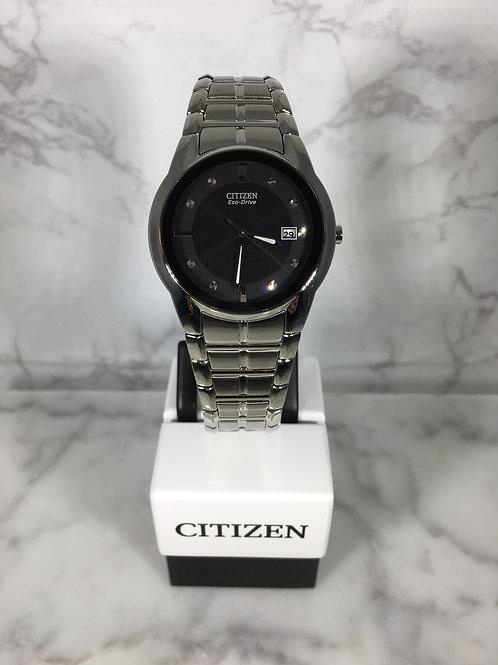 Men's Silver Citizen Eco-Drive Bracelet Watch